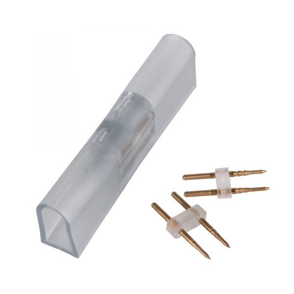 Переходник для одностороннего светодиодного гибкого неона LS001 220V 5050 RGB (10 шт.) PSL-02