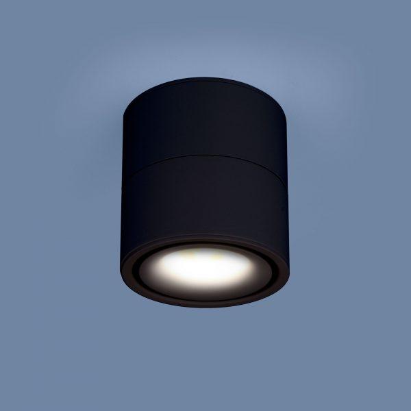 Накладной потолочный  светодиодный светильник DLR031 15W 4200K 3100 черный матовый 1