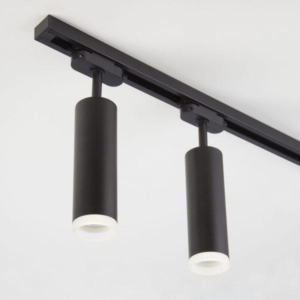 Трековый светодиодный светильник для однофазного шинопровода Oskar Черный 10W 4200K LTB28 4