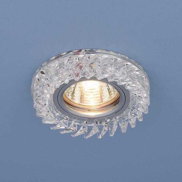 Встраиваемый точечный светильник с LED подсветкой 2216 MR16 CL прозрачный 1