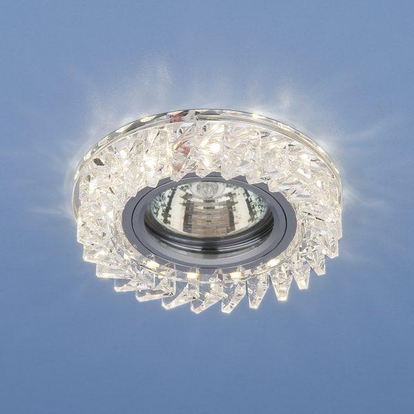 Встраиваемый точечный светильник с LED подсветкой 2216 MR16 CL прозрачный 2