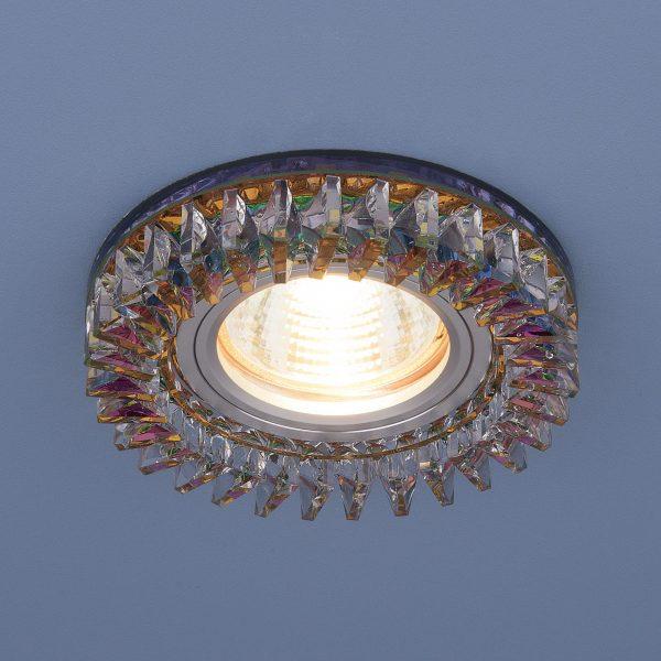 Встраиваемый точечный светильник с LED подсветкой 2216 MR16 MLT/CH мульти/хром 2