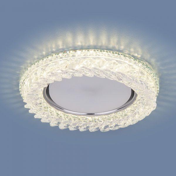 Встраиваемый точечный светильник с LED подсветкой 3024 GX53 CL прозрачный 1