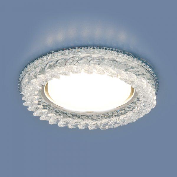 Встраиваемый точечный светильник с LED подсветкой 3024 GX53 CL прозрачный 2