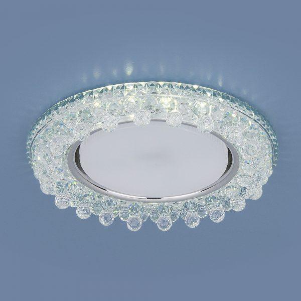 Встраиваемый точечный светильник с LED подсветкой 3025 GX53 CL прозрачный 1