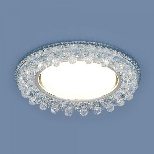Встраиваемый точечный светильник с LED подсветкой 3025 GX53 CL прозрачный 2