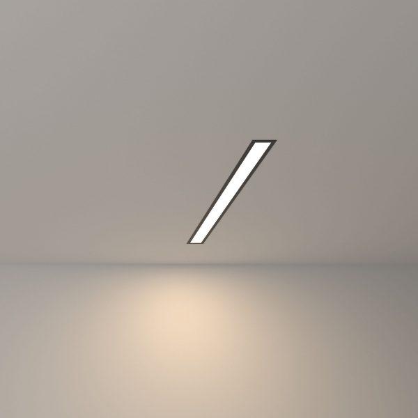 Линейный светодиодный встраиваемый светильник 53см 10Вт черный матовый 4