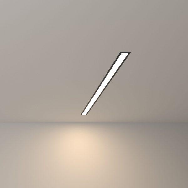 Линейный светодиодный встраиваемый светильник 78см 15Вт черный матовый 4
