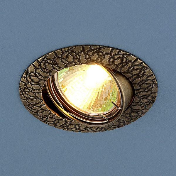 Встраиваемый точечный светильник 625 MR16 GAB бронза