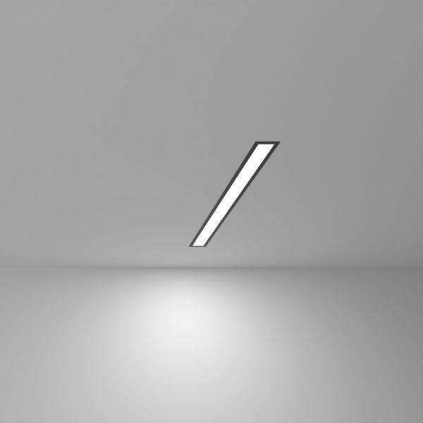 Линейный светодиодный встраиваемый светильник 53см 10Вт черный матовый 5