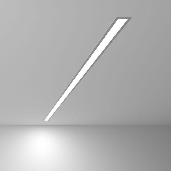 Линейный светодиодный встраиваемый светильник 128см 25Вт матовое серебро 3