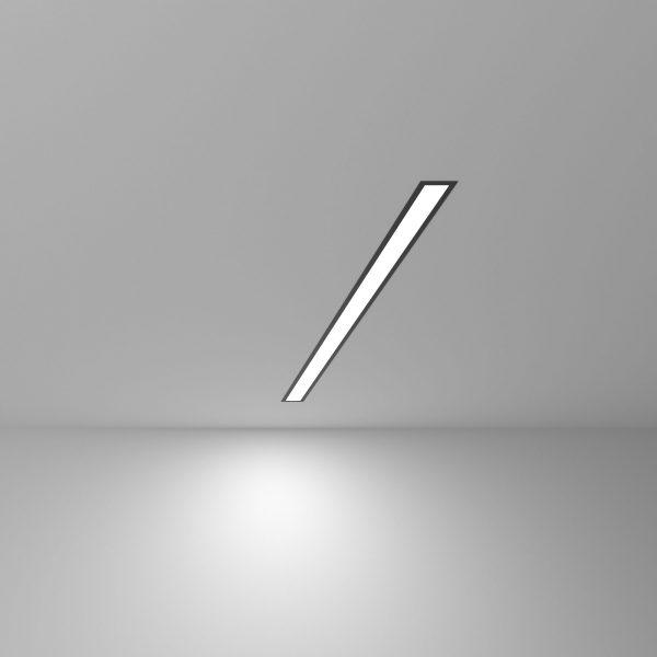 Линейный светодиодный встраиваемый светильник 78см 15Вт черный матовый 5