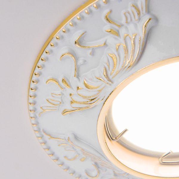 Точечный светильник 7217 MR16 WHG белый/золото 2
