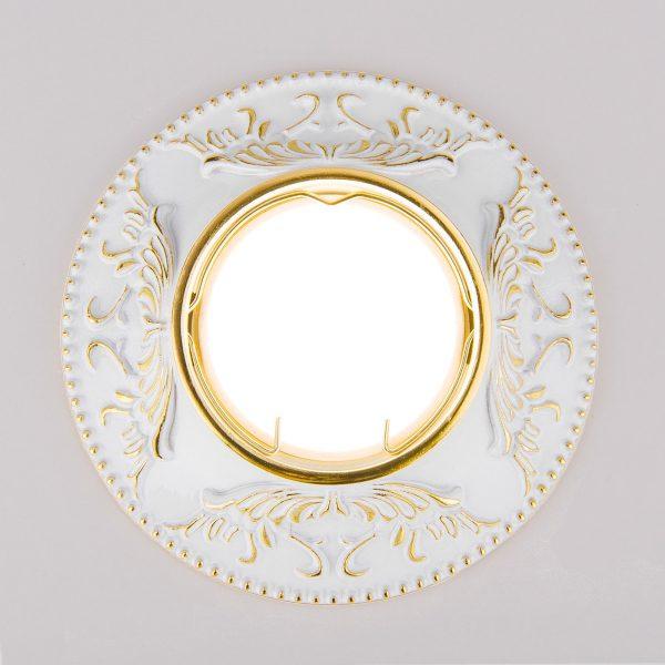 Точечный светильник 7217 MR16 WHG белый/золото 3