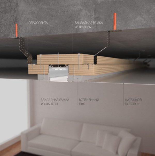 Линейный светодиодный встраиваемый светильник 78см 15Вт черный матовый 3