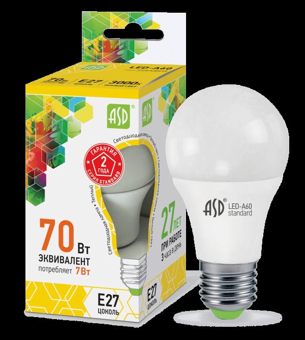 светодиодная лампа A60