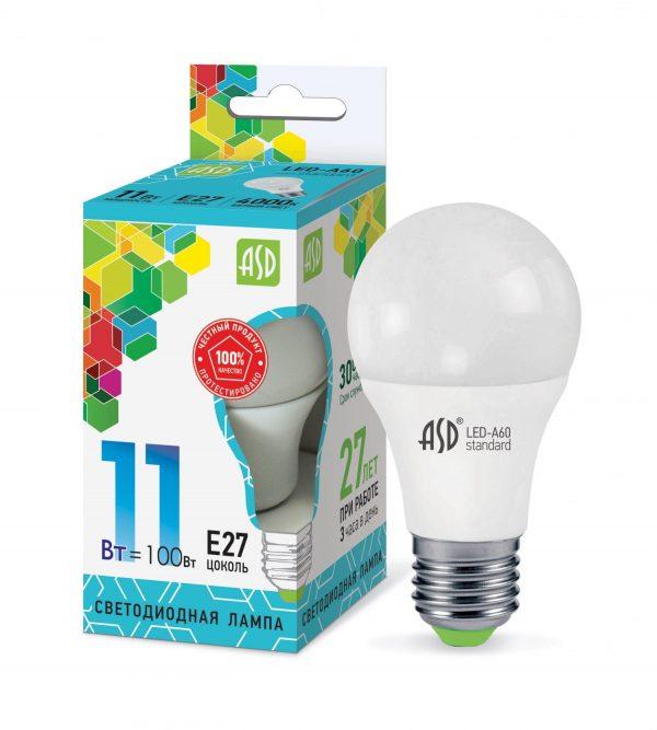 Лампа светодиодная LED-A60-standard 230В Е27 ASD 2