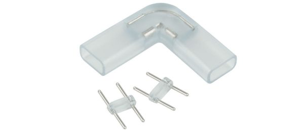 Угловой переходник для светодиодной ленты 220V 5050 (10 шт.) a035331