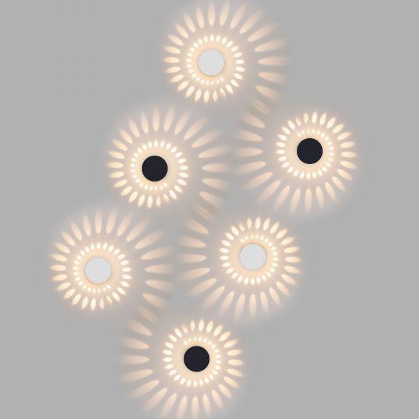 ARKADA черный уличный настенный светодиодный светильник 1585 TECHNO LED 2