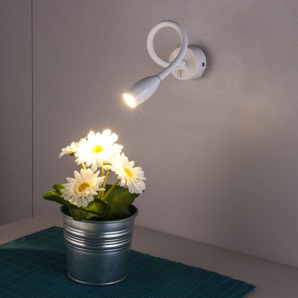 BAND LED белый Светодиодный светильник с гибким основанием MRL LED 1020 1