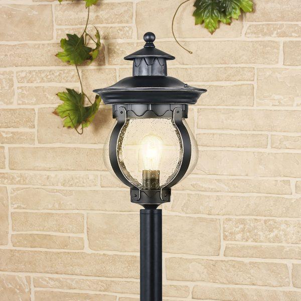 Barrel F черное золото уличный светильник на столбе GL 1025F 3
