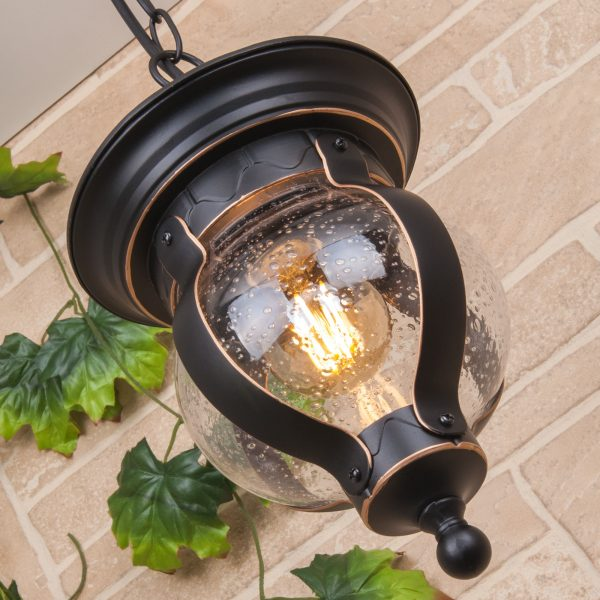Barrel H черное золото уличный подвесной светильник GL 1025H 1