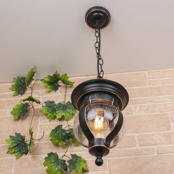 Barrel H черное золото уличный подвесной светильник GL 1025H 2