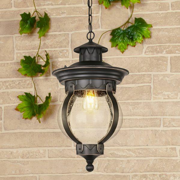 Barrel H черное золото уличный подвесной светильник GL 1025H 3