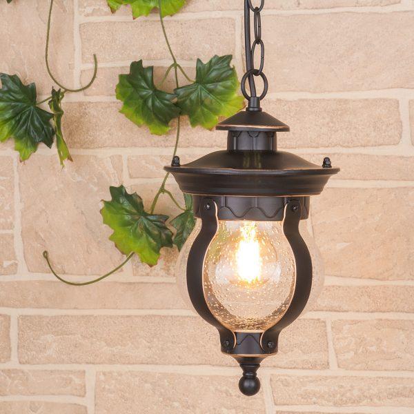 Barrel H черное золото уличный подвесной светильник GL 1025H 4