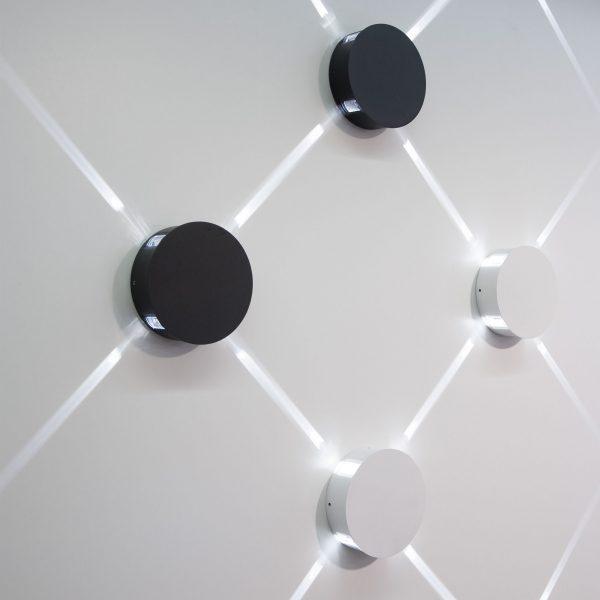 BEAM черный уличный настенный светодиодный светильник 1545 TECHNO LED 3