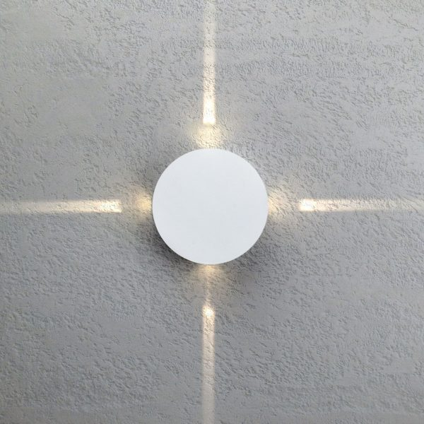BEAM белый уличный настенный светодиодный светильник 1545 TECHNO LED 1