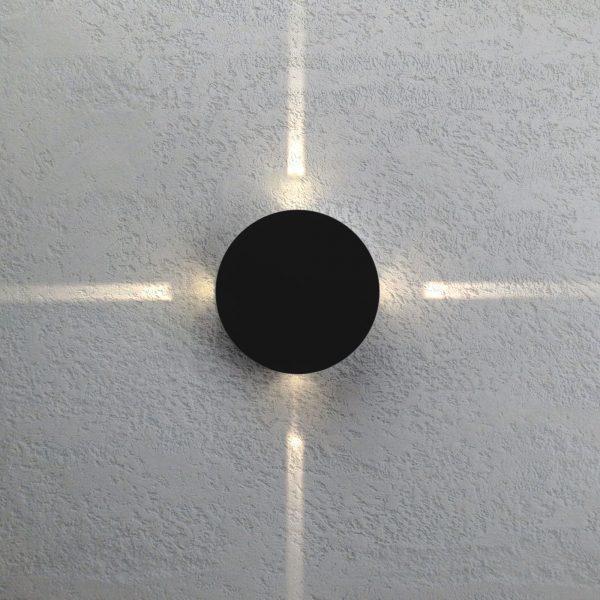 BEAM черный уличный настенный светодиодный светильник 1545 TECHNO LED 1