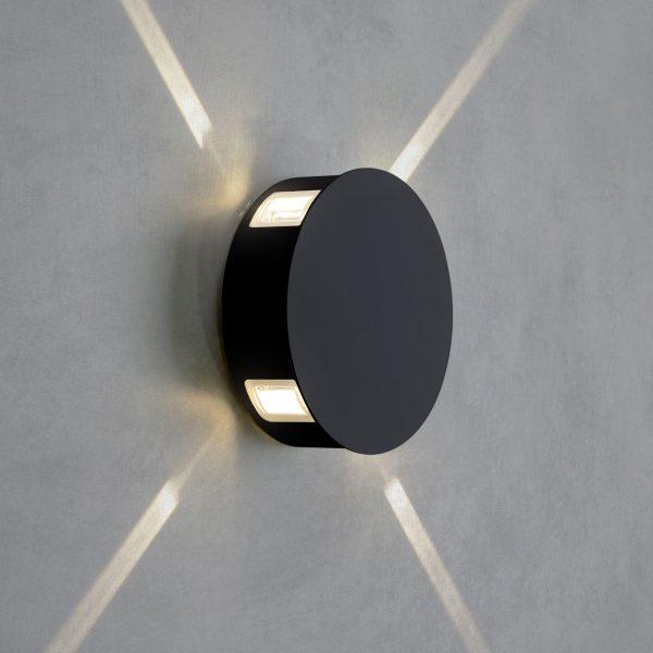 BEAM черный уличный настенный светодиодный светильник 1545 TECHNO LED