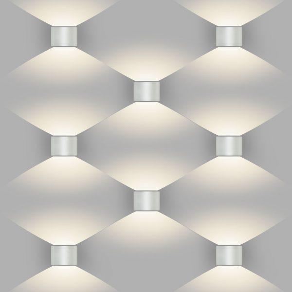 BLADE белый уличный настенный светодиодный светильник 1518 TECHNO LED 1