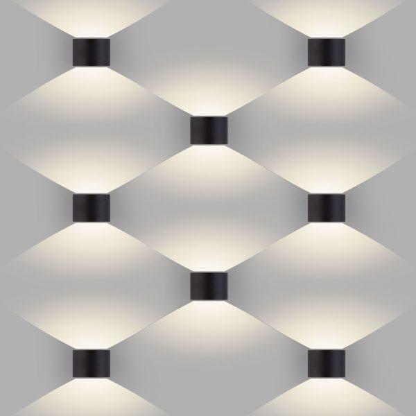 BLADE черный уличный настенный светодиодный светильник 1518 TECHNO LED 1