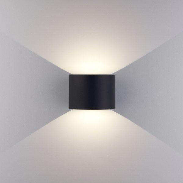 BLADE черный уличный настенный светодиодный светильник 1518 TECHNO LED 2
