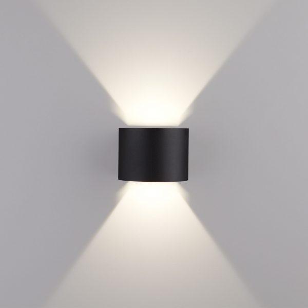 BLADE черный уличный настенный светодиодный светильник 1518 TECHNO LED 3