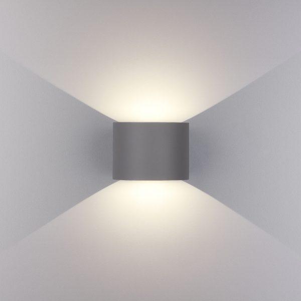 BLADE серый уличный настенный светодиодный светильник 1518 TECHNO LED 2