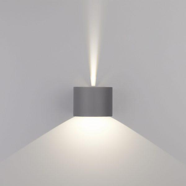 BLADE серый уличный настенный светодиодный светильник 1518 TECHNO LED 4