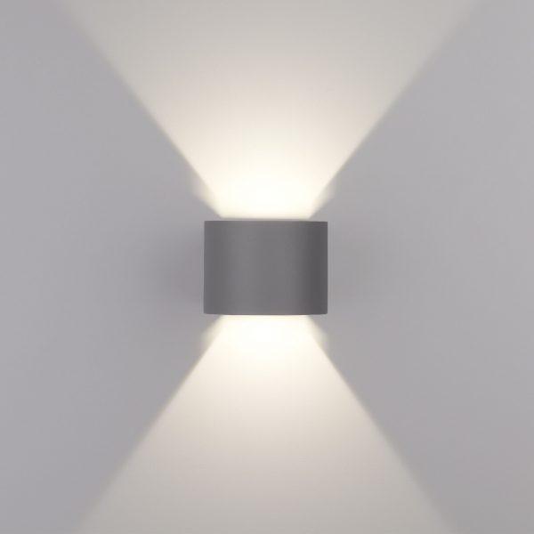 BLADE серый уличный настенный светодиодный светильник 1518 TECHNO LED 3