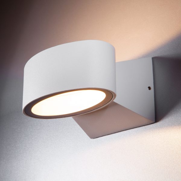 BLINC белый уличный настенный светодиодный светильник 1549 TECHNO LED 8