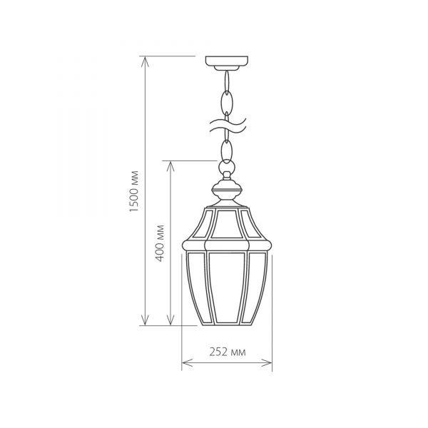 Chatel H медь уличный подвесной светильник GL 1032H 12