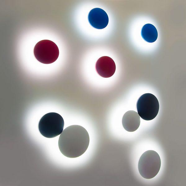 CONCEPT S синий уличный настенный светодиодный светильник 1660 TECHNO LED 3