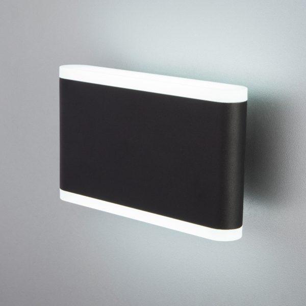 COVER чёрный уличный настенный светодиодный светильник 1505 TECHNO LED 2