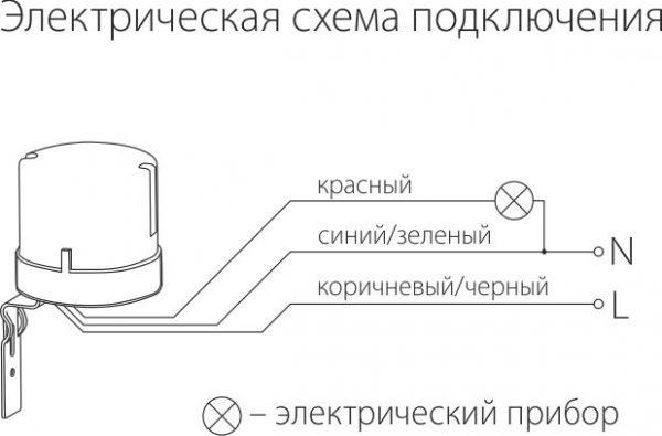 Датчик освещенности 5500W IP44 Белый SNS-L-07 1