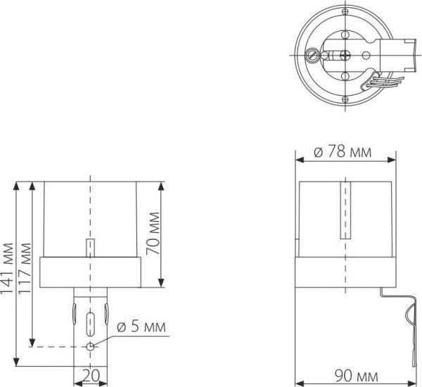 Датчик освещенности 5500W IP44 Белый SNS-L-07 4
