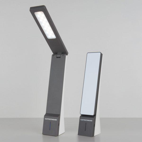 Настольный светодиодный светильник Desk белый/серый TL90450