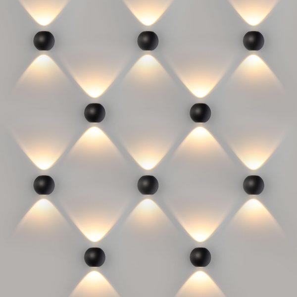 DIVER черный уличный настенный светодиодный светильник 1566 TECHNO LED 3