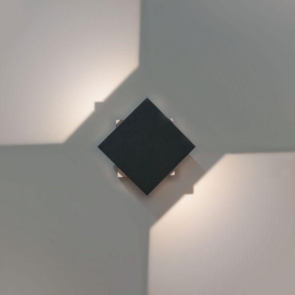 FOBOS графит уличный светодиодный светильник с поворотным механизмом 1607 TECHNO LED 1
