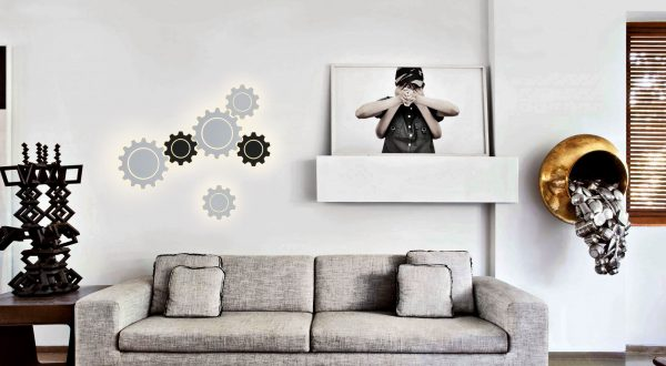 Gear L LED белый Настенный светодиодный светильник MRL LED 1100 5